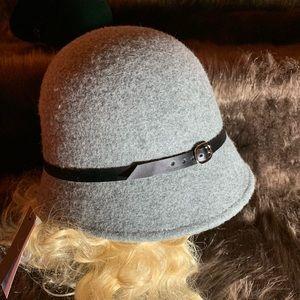 NWT Grey Cloche Hat